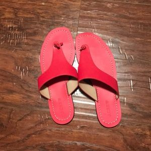 J crew size 8 red sandals